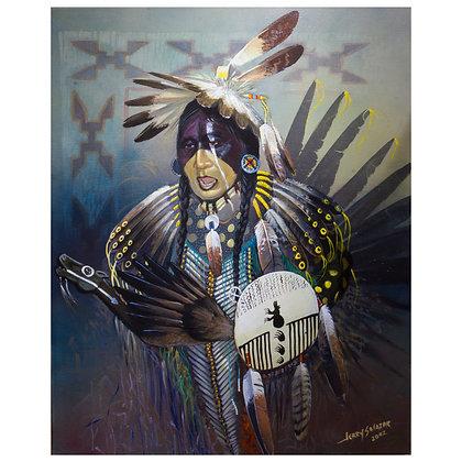 Bear Shield Dancer (Oil Painting)