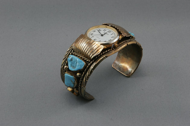 Gold Plated & Turquoise Watch
