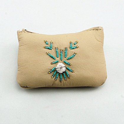Moose Leather Zipper Pouch