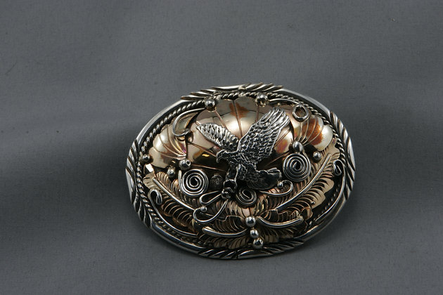 Silver & Gold Belt Buckle