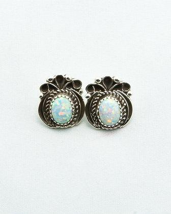 Silver & Opal Studs