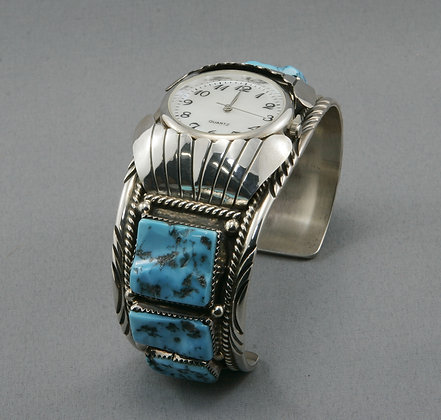 Silver & Turquoise Watch