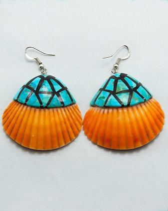 Scallop & Turquoise Earrings