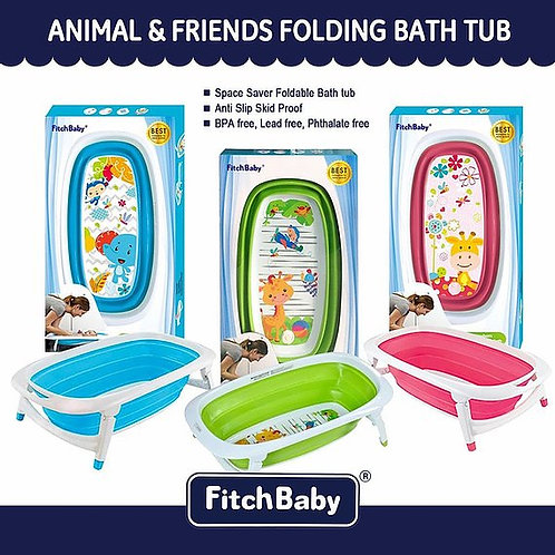FitchBaby Animals & Friends Portable Baby Folding Bathtub