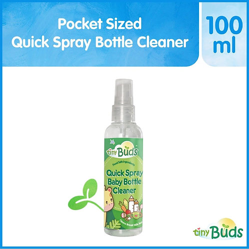 Tiny Buds Pocket Sized Quick Spray Baby Bottle Wash 100ml