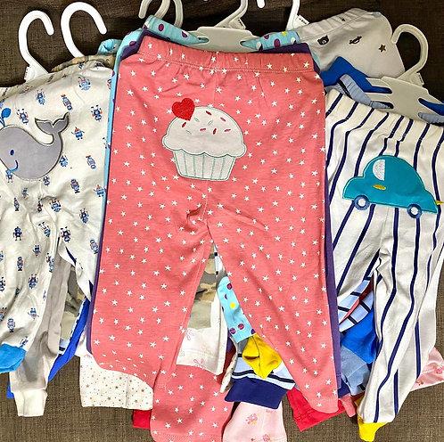 Infant Cotton Pants Random Prints&color 3pcs in a Set( Random Designs)