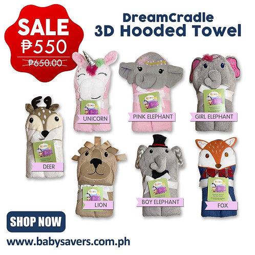 DreamCradle Premium Animal Hooded towel