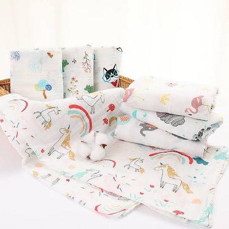 Muslin Swaddle 3pcs blanket Random prints for Boy or Girl