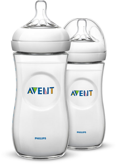 Philips Avent Natural 11oz, 2 pack, Clear