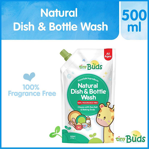 Tiny Buds Natural Dish Wash & Baby Bottle Cleanser Fragrance Free (500ml)