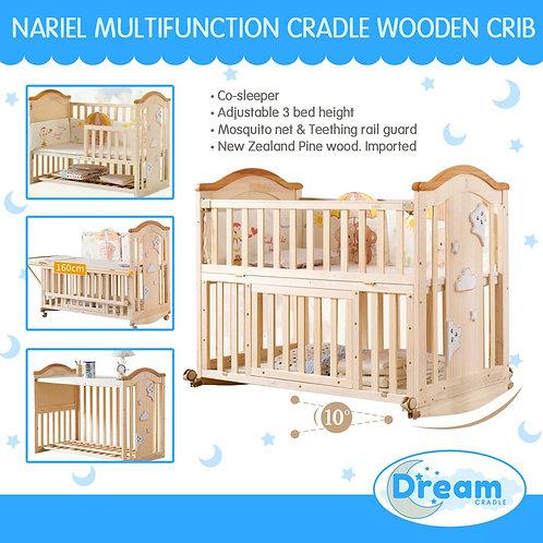 NARIEL Multi function cradle Wooden Crib