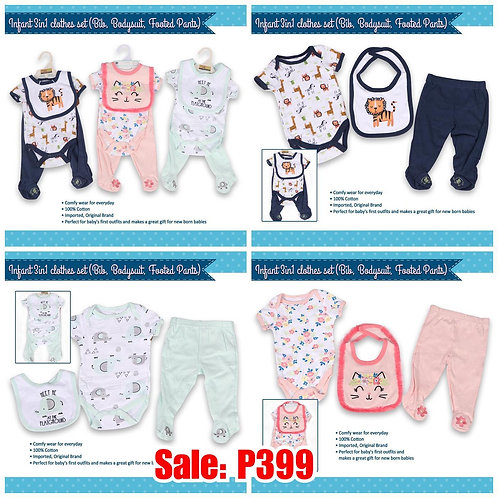 Infant clothes set 3in1