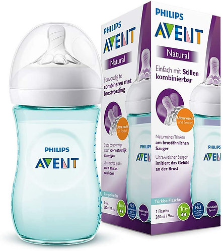 Philips Avent Natural Baby Bottle, 9oz- Teal