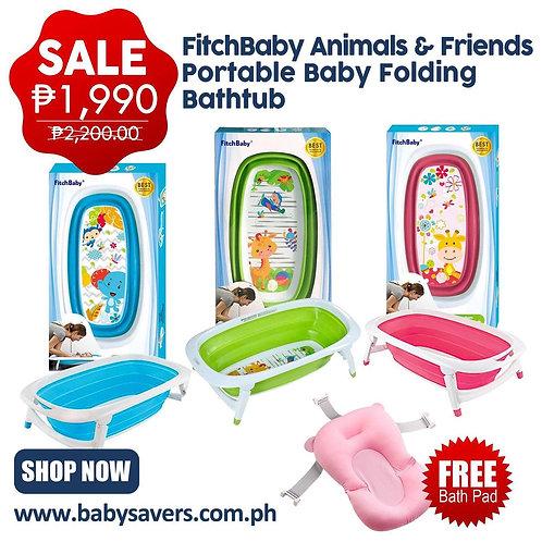 FitchBaby Animals & Friends Portable Baby Folding Bathtub