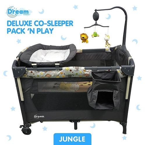 "Deluxe Co-Sleeper Pack 'N Play ""JUNGLE"""