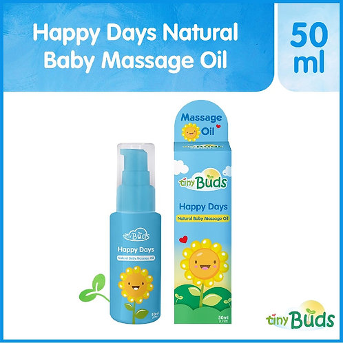 Tiny Buds Happy Days Natural Baby Sunflower Oil Made With Sunflower Oil.