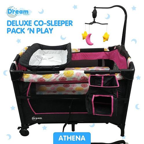 "DreamCradle Deluxe Co-Sleeper Pack 'N Play ""ATHENA"""