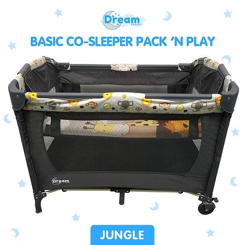 """DreamCradle Basic Co-Sleeper Pack 'N Play """"JUNGLE"""""""