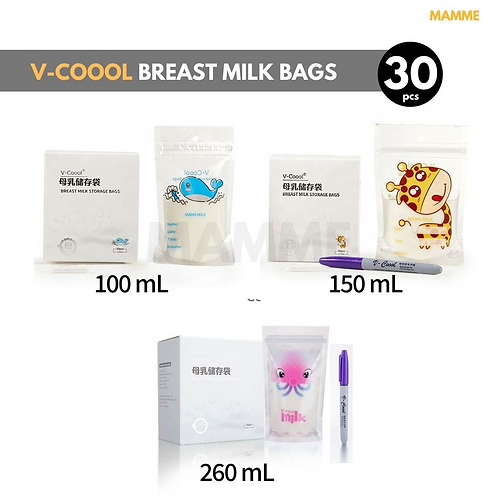 V-Coool Breastmilk Storage Bags, 30pcs
