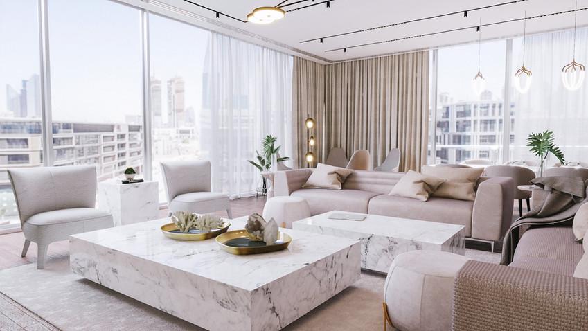 Dubai - City Walk - Living room - 079.jp