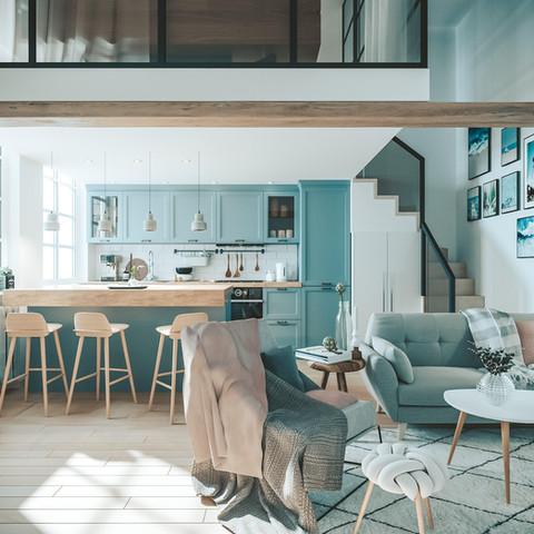 Nordic apartment, Budapest