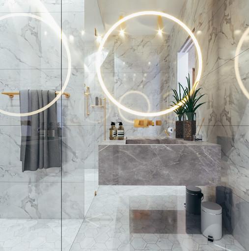 Dubai - City Walk - Guest Bathroom - 04.