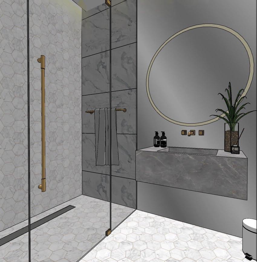 Dubai - City Walk - Guest Bathroom - 02s