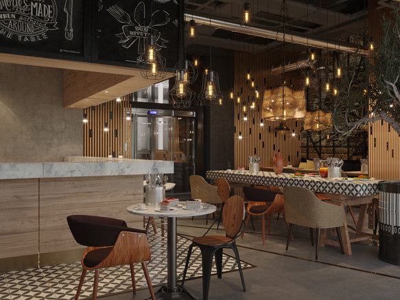 Restaurant, bar design