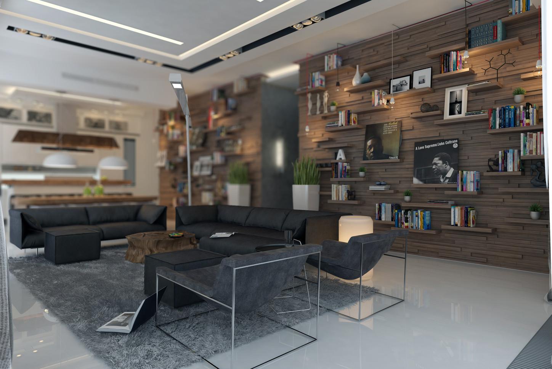 Interior design of a contemporary apartment. Residential Freelance designer