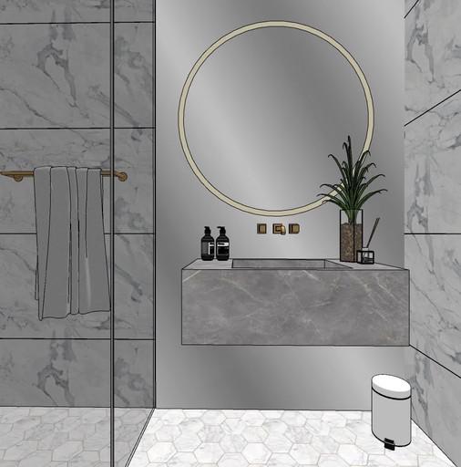 Dubai - City Walk - Guest Bathroom - 03s