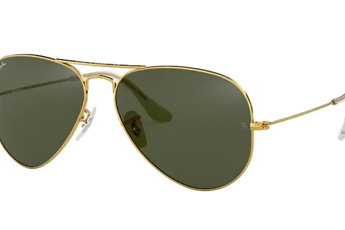 Ray Ban - Aviator Dourado - Lente G15 green - 3025L L020558