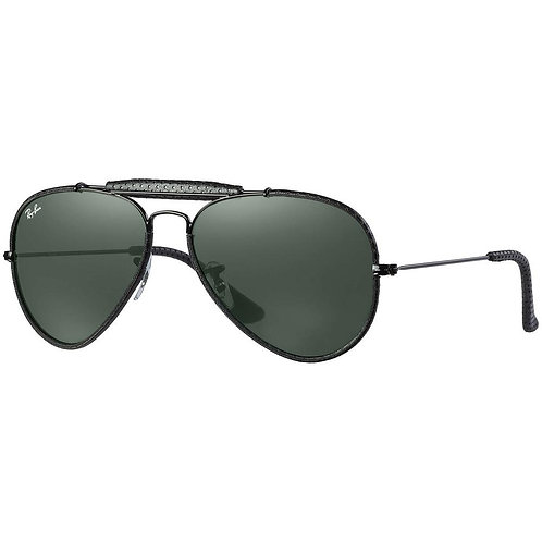 Ray Ban Outdoorsman Craft - Preto/Verde-G15 - 3422Q 9040 58