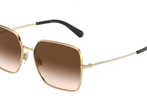 Dolce & Gabbana - Dourado - Lente Marrom Escuro - 224202/1357