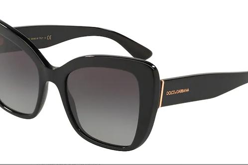 Dolce & Gabbana - Preto - Lente Cinza Claro - 4348501/8G54