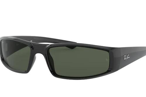 Ray Ban - Preto - Lente Verde Escuro - 4335 601/7158