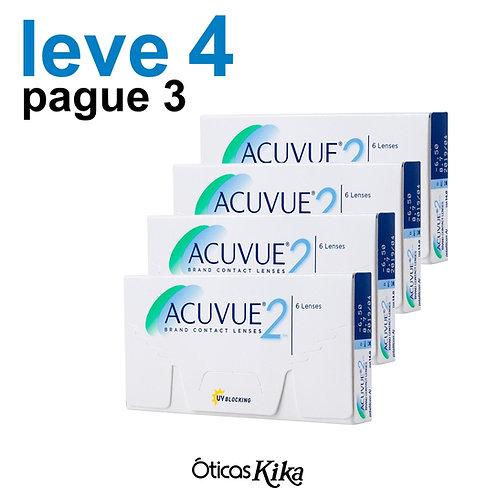 Leve 4 e pague 3 - Combo Acuvue 2 - GRAU POSITIVO