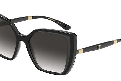 Dolce & Gabbana - Preto - Lente Cinza Degrade - 613832468G55