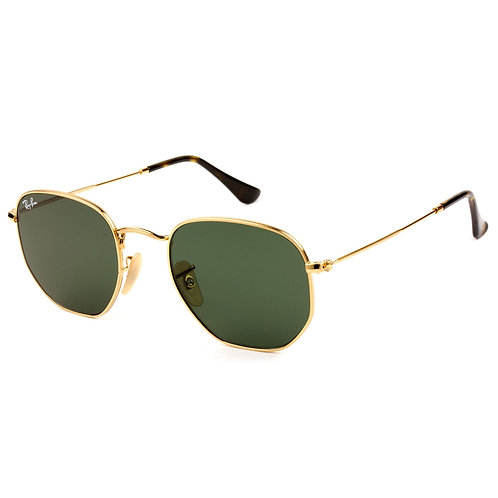 Ray-Ban Hexagonal - Dourado/Verde G15 - 3548N 001 54
