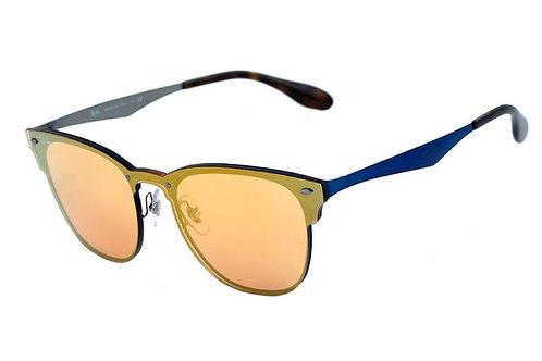 Ray-Ban Blaze Clubmaster - Azul/Dourado Espelhado - 3576N 90377J 41