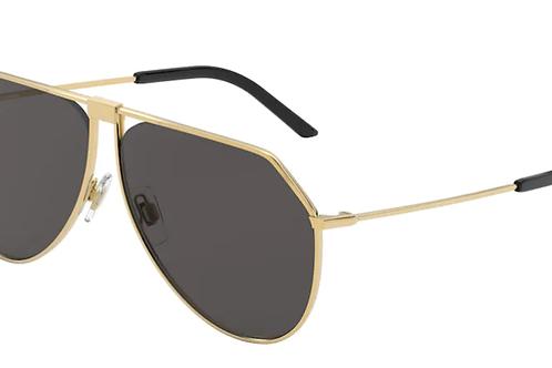 Dolce & Gabbana - Dourado - Lente Cinza Escuro - 224802/8762