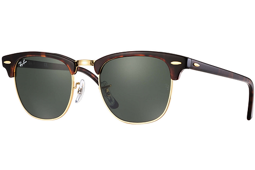Ray Ban Clubmaster - Verde/Marrom - 3016 W0366 51