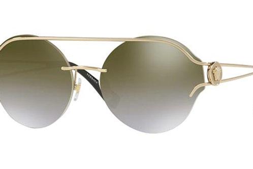 Versace - Dourado/Marrom Degradê Espelhado - 21841 2526U 61