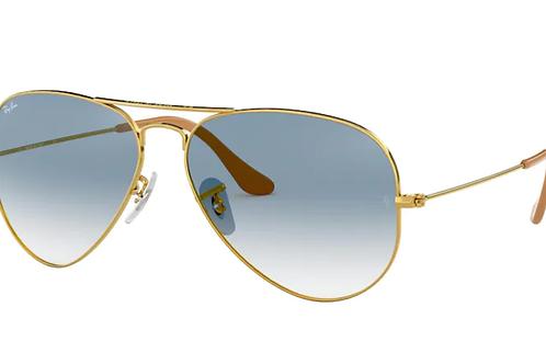 Ray Ban - Aviator Dourado - Azul Degrade - 3025L 001/3F58