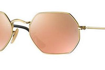 Ray-Ban Octagonal - Dourado/Rosê Espelhado - 3556N 001/22 53
