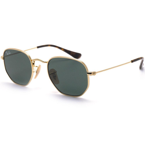 e36183885a69c Ray Ban Hexagonal Junior - Dourado Verde G15 - 9541SN 223 71 44