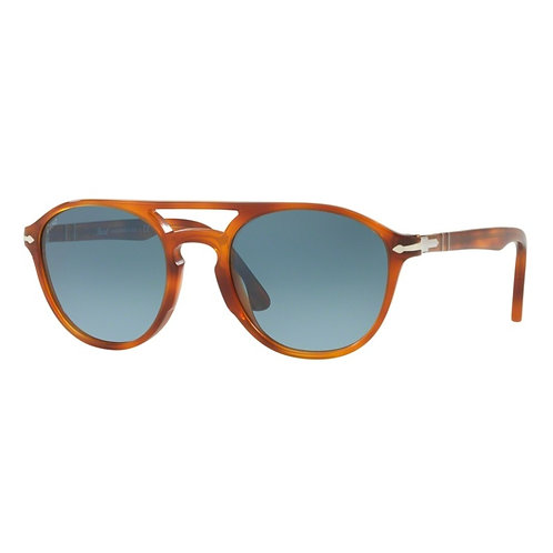 Persol Double Bridge - Castanho/Azul Degradê - 3170S 9041/Q8 55