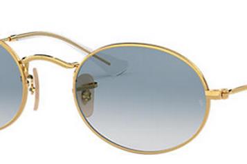 Ray-Ban Oval - Dourado/Azul Degradê - 3547N 001/3S 51