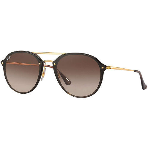Ray-Ban Blaze Double Bridge - Dourado/Marrom Degradê - 4292N 710/13 62