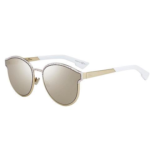 Dior Symmetric - Dourado, Marmorizado/Dourado, Prata - GBZQZ 60