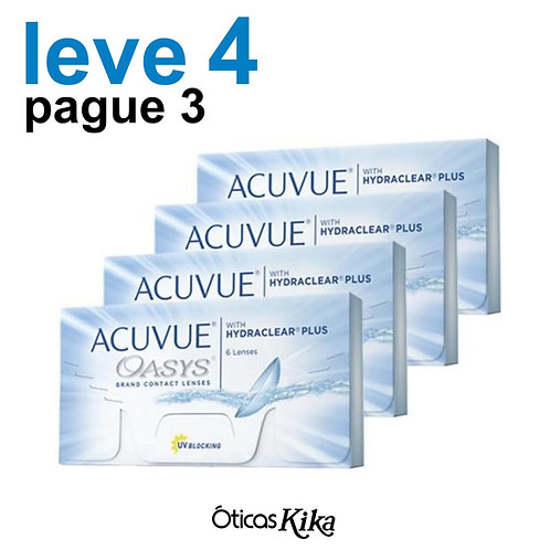 Leve 4 e pague 3 - Combo Acuvue Oasys - GRAU POSITIVO